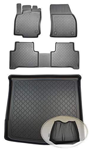 ZentimeX Z393618 Set Kofferraumwanne Gummifußmatten + Klettnetztasche (Laderaumwanne, Kofferraummatte, Automatten)