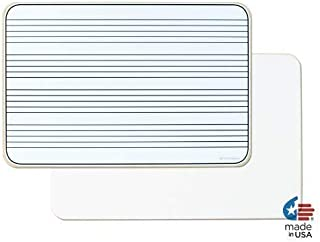 OptiMA Double Sided 12x18 Music Staff Dry Erase Lap Board. Made in the USA!