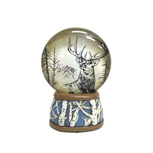 WonderMolly North American Wildlife Mule Deer Light-Up Slim Snow Globe