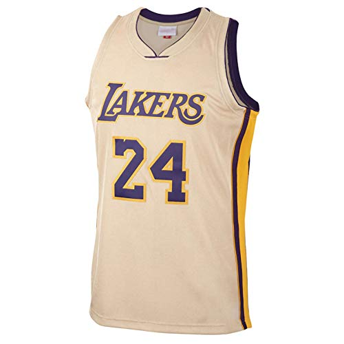 Breathable Mesh Swingman Basketball Jerseys XMYM Basketball Jerseys Suits for Men Kobe Bryant Los Angeles Lakers 24# 8# Unisex Sleeveless Embroidered Tops+Shorts