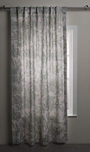 Maison d' Hermine The Miller 100% Cotton Curtain One Panel for Living Rooms Bedrooms Offices Tailored with a Rod Pocket and Loop for Easy Hanging (Antique Green, 50 Inch by 84 Inch).