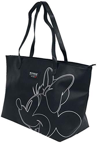 Micky Maus Minnie Maus Unisex Tragetasche schwarz/weiß 100% Polyester Disney, Fan-Merch, Film