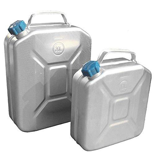 KILLM Edelstahl-Kanister Behälter Benzin Kanister Öl Container 20Liters Auto ATV Motorrad-Zubehör Kraftstoff, Kraftstoff-Kanister,10L