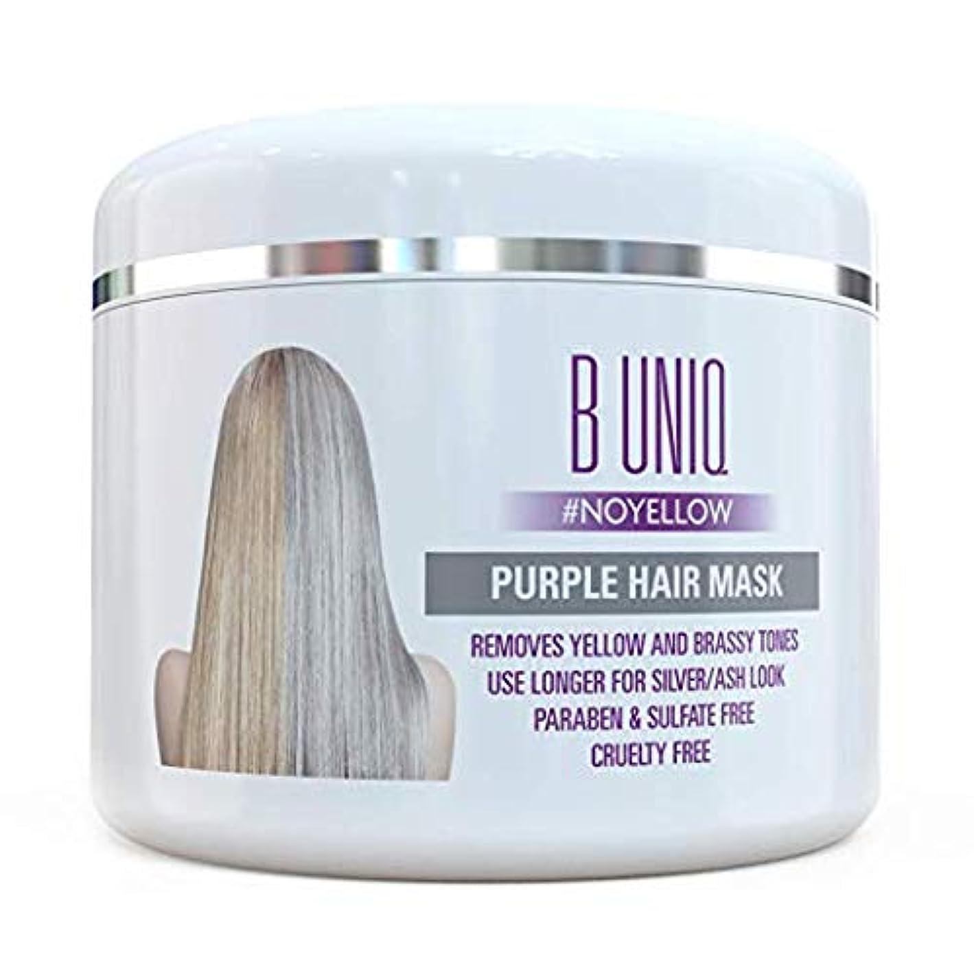 あいにくぶら下がる大気紫 ヘアマスク ヘアトナー Purple Hair Mask For Blonde, Platinum & Silver Hair - Banish Yellow Hues: Blue Masque to Reduce Brassiness & Condition Dry Damaged Hair - Sulfate Free Toner - 7.27 Fl. Oz / 215 ml 海外直送品 [並行輸入品]