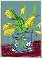 クラシックデイヴィッドホックニー花瓶キャンバス絵画プリントリビングルーム家の装飾アートワークモダンウォールアートポスターHD50x75cmフレームなし