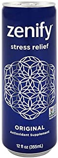 Zenify Original All Natural Sparkling Calming Stress Relief Beverage, Formula with L-Theanine, GABA, Vitamin B6, and Glycine, Non-GMO, Gluten-Free, Vegan, 12 Fl Ounce (Pack of 12)
