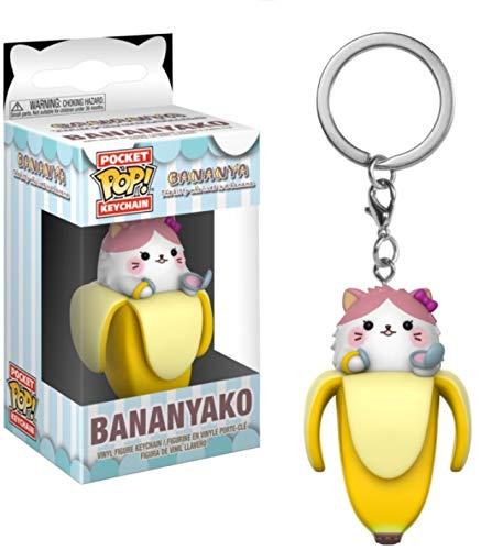 Funko Pop Keychain: Bananya - Bananyako Collectible Figure