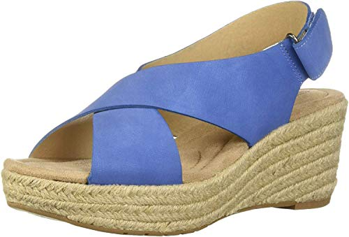 CL by Chinese Laundry Women's Dream Too Wedge Sandal, Denim Nubuck, 7 M US
