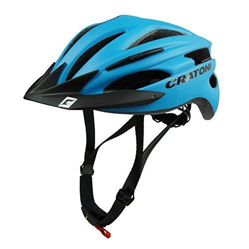 Cratoni Fahrradhelm Pacer, Blue matt - Visier schwarz, Gr. L-XL (58-62 cm)