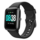 Smartwatch, YONMIG Orologio Sportivo Fitness Tracker Donna Uomo, Impermeabile IP68 Touchscreen Smart Watch, Activity Tracker Cardiofrequenzimetro da Polso Contapassi Cronometro per Android Ios (Nero)