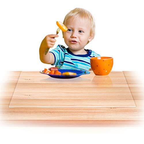 Dr. Berger Original Tischschutz und Kleckerschutz 60x40cm - Tischunterlage Hitzebeständig Lebensmittelecht Transparent - für Kinder und Erwachsene