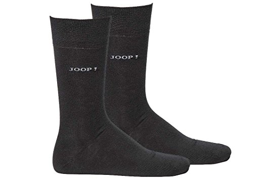 JOOP! Herren Socken 2 Paar, Basic Soft Cotton Sock 2-Pack, Einfarbig - Farbwahl: Farbe: Schwarz | Größe: 43-46 (9-11 UK)