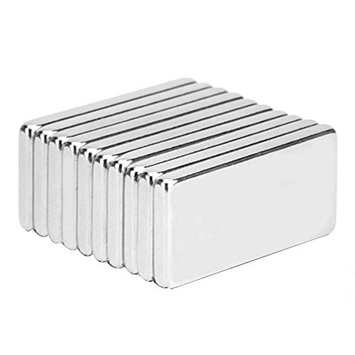 Energystation Starke Neodym Magnete 10 Pcs für DIY Building Craft Küche Office 20 x 10 x 2 mm