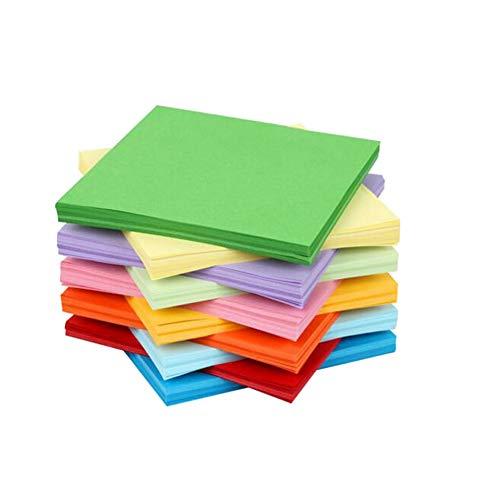 100hojas 15 x 15cm 10 colores cuadrados doblados de papel doble cara...
