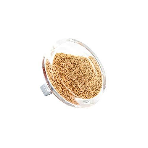 Pylones, anillo de cristal, Cachou Giga Bolas, dorado