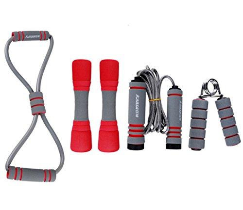 LMZZGAOYANQING attrezzature per il fitness casa esercizio kit saltare Rally presa una famiglia di quattro