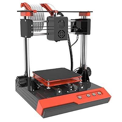 "TTLIFE Mini 3D Printer Pro, Small 3D Printer for Kids Teens Beginners, Fast Heating, Low Noise, Printing Size 4""×4""×4"", Free 10m(L) 1.75mm(D) Testing Filament, Orange"