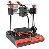 TTLIFE K1 Mini 3D Printer Pro, Small 3D Printer for Kids Teens Beginners, Fast Heating, Low Noise, Printing Size 4'×4'×4', Free 10m(L) 1.75mm(D) Testing Filament, Black & Orange