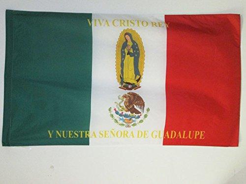 AZ FLAG Flagge MEXIKO Viva Cristo Rey 90x60cm - MEXIKANISCHE Fahne 60 x 90 cm Scheide für Mast - flaggen Top Qualität