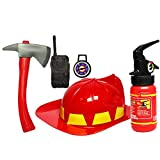 Kinderkostüm Fire Caps Spielzeug Feuerwehrmann Feuerwehr Ausrüstung Feuerwehrmann Zubehör für Kinder (3-7 Jahre alt)