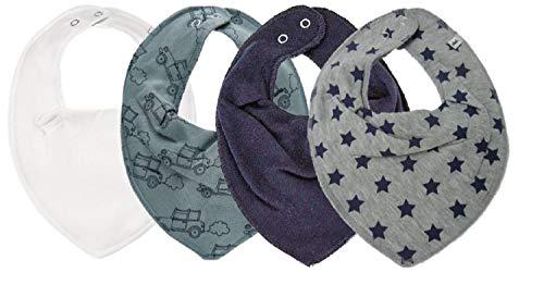 Pippi Pippi Halstuch 4er Pack Halstücher Baby Dreieckstücher Lätzchen Baumwolle (4er Sterne Navy)