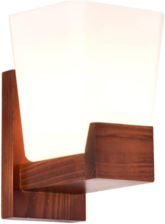 Xiao Yun    Amerikanischer Retro-Stil im norwegischen Europa im mediterranen Stil aus massivem Holz Gang Wohnzimmer Bett Restaurant Balkon E27 (Farbe    1)