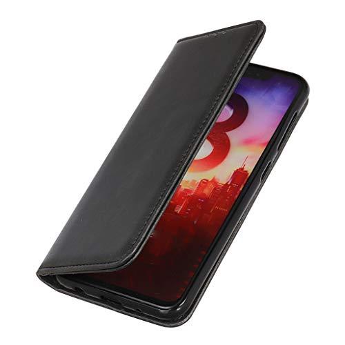 HAOTIAN Hülle für Oppo Reno 4 Pro 5G (Oppo Reno4 Pro 5G) Brieftasche, mit [Kartenfächern] [Kickstand] [Magnetische Funktion] Folio Handyhülle PU Leder Schutzhülle Flip Hülle, Schwarz