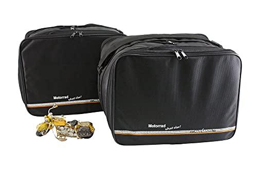 made4bikers Compatible avec Les modèles BMW R1200 F650 F700 F800 R1200 GS: Poches intérieures/Sacs intérieurs pour valises latérales (Vario)