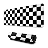 Black & White Racing Checkered Flag Mousepad Non-Slip Rubber Gaming Mouse Pad Mouse Pads for Computers Laptop 11.8 x 31.5 in
