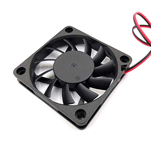YWYW Impresora 3D Ventilador sin escobillas DC 5V 12V 24V 60x60x10mm PC PC CASA CPU Ventilador de enfriamiento 6CM 60mm USB 2PIN 3PIN Fan RADIADOR Accesorios de Impresora 3D (Color : 24V XH2.54 2Pin)