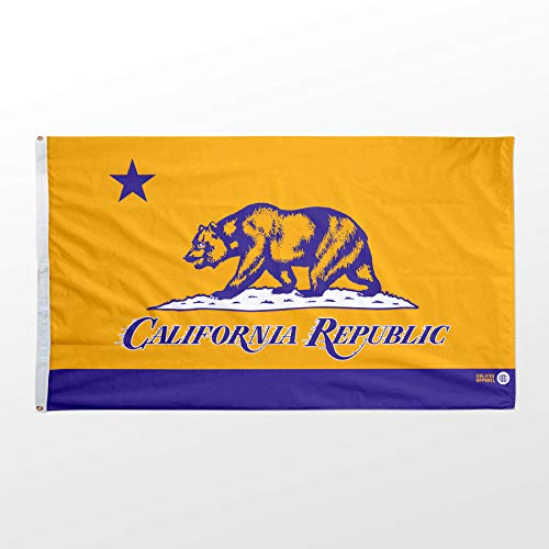 Califas Apparel Purple & Gold Indoor/Outdoor Flag (6 ft. x 4 ft. (72″ x 48″)) image