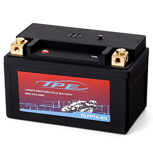 TPE Lithium Motorcycle Scooter Battery LiFePO4 Engine Start Battery 12.8V 5AH 300 CCA with BMS With Smart Battery Management System 2500-8000 Life Cycles