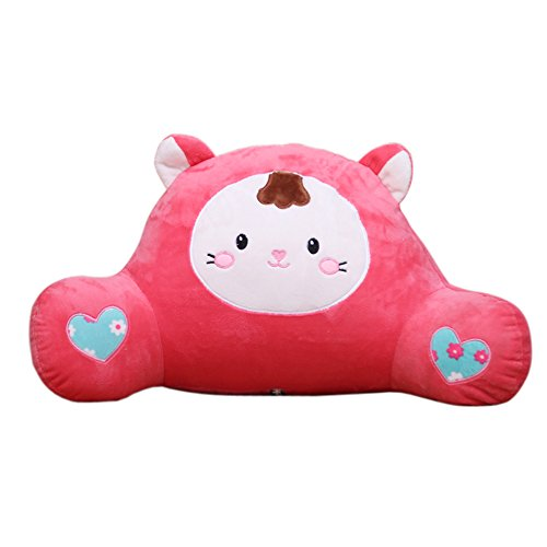 "Mlotus Cute Pink Bedrest Pillow Kids Girls Best Bed Rest Pillows with Arms for Reading in Bed 20"" x 10"""