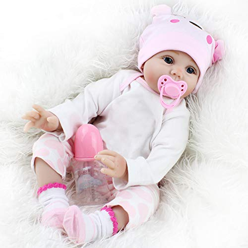 ADMAS Reborn Baby Dolls 22 Inch Realistic Reborn Baby Dolls Weighted Baby Reborn Dolls That Looks Real, Lifelike Baby Dolls Girl Toy Gifts for Kids