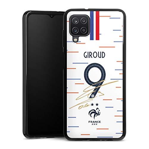 DeinDesign Silikon Hülle kompatibel mit Samsung Galaxy A12 Case schwarz Handyhülle Giroud Nationalmannschaft Trikot