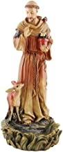 Joseph's Studio Saint Francis of Assisi Bird Feeder Resin Outdoor Garden Statue, 12 Inch