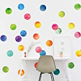 5pcs/set Colorful Circle Wall Stickers for Kids room Nursery Bedroom Wall DIY Decor Eco-friendly Home Decoration Vinyl Decals