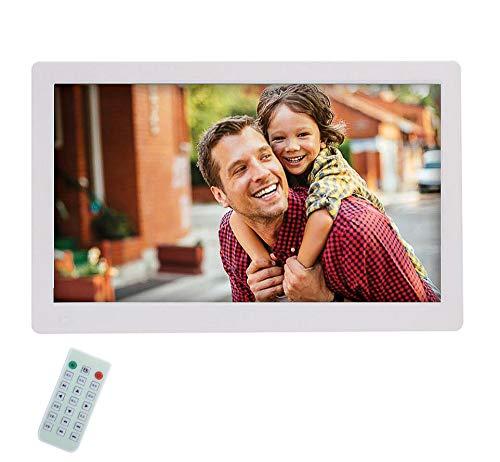 llh Digitaler Bilderrahmen 24 Zoll IPS Display 16:9 HD Ultra Slim Breitbild Elektronischer Bilderrahmen Mit Fernbedienung Elektronischer Fotorahmen Unterstützt USB 2.0,SD/SDHC/MMC-Kartenslot,White