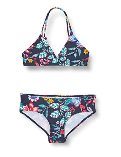 ESPRIT JASMINE BEACH YG bustier+hipster Bikini-Set, Mädchen, Blau 152/158
