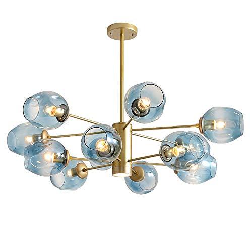 GTD-RISE Lampadario,Lampada a sospensione,Pendant Light, Candelabro de Techo, acrílico, 12 Luces, Ideal para Sala de Estar, Dormitorio, Comedor, Pasillo