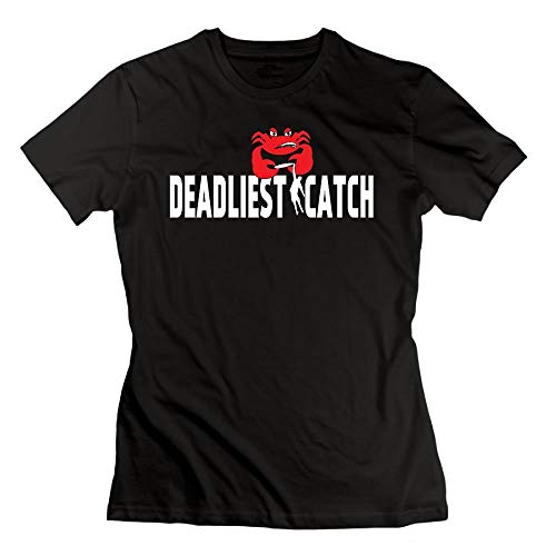 Sportswear Herren Kurzarmhemd, Loyd D Women's Fashion Deadliest Catch Tee Black