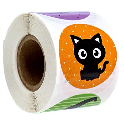 SBLABELS Halloween Character Stickers / 8 Alternating Designs / 250 Halloween Stickers