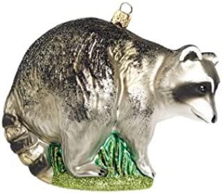 Raccoon Bandit Polish Glass Christmas Ornament Animal