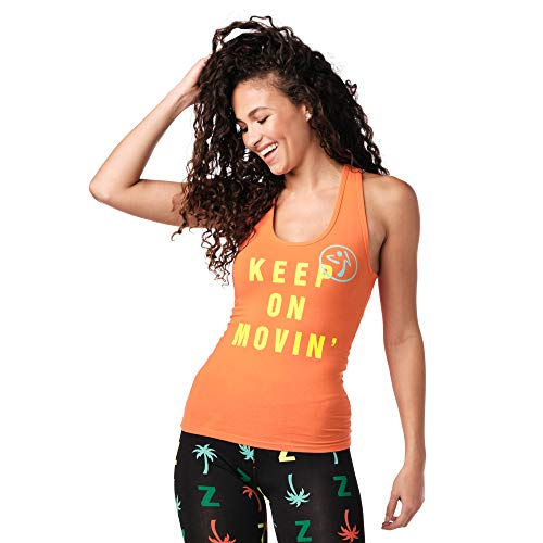Zumba Graphic Print Dance Fitness Gym Tanks Breathable Workout Racerback...