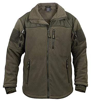 Rothco Spec Ops Tactical Fleece Jacket, Olive Drab, L