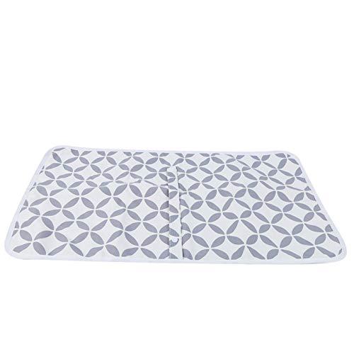 Cojín de colchón impermeable, colchón para niños pequeños, para niños pequeños, bebés y recién nacidos para cestas/cunas(White hollow circle)