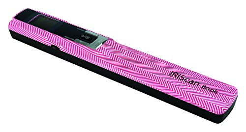 New IRIScan Book 3 Color Document Image Handheld Portable Mobile Color Scanner - Pink