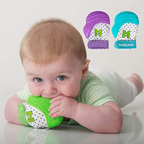 Munch Mitt Baby Teething Mitten - Purple by Munch Mitt