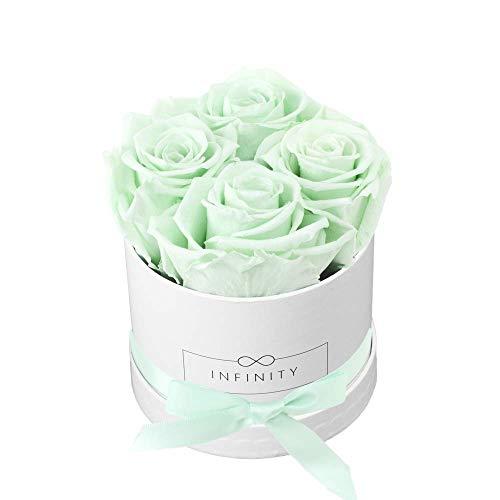 Infinity Flowerbox 2-BW-CM Cadeau, Carton, Cool Mint, 10 x 10 x 10 cm