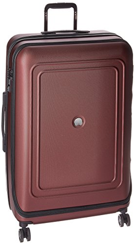 DELSEY Paris Cruise Lite Hardside 25 inch Expandable Spinner Suitcase with Lock, Black Cherry, One Size